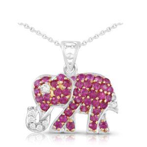 Elephant Diamond Pendant