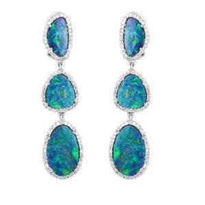 Opal Diamond Rings