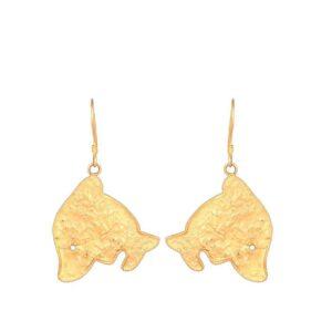 Yellow Gold Fish Earrings